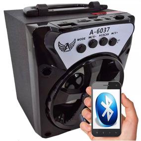 Caixa Caixinha Som Sem Fio Bluetooth Recarregável A-6037