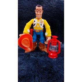 Boneco Woody Toy Story De Borracha Com Lanterna Vermelha