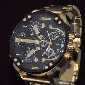 Relógio Diesel Banhado Ouro Only The Brave Dz 7333 A517