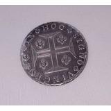 Moeda Antiga Brasileira De Prata 400 Réis De 1816