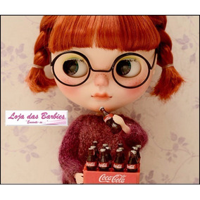 Miniaturas Garrafas Coca Cola P/ Boneca Barbie Blythe Rement
