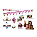Kit Imprimible Masha Y El Oso Candy Bar Datos Editables