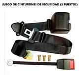 Cinturon De Seguridad 3 Puntos Retractil Universal 2 Puestos