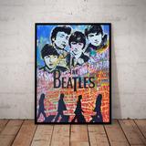 Quadro Neo Pop Rock Art Nick Twaalfhoven Beatles 42x29cm