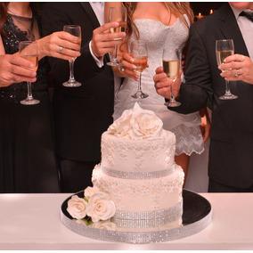 Torta Casamiento Ó 15 Quince Base D Vidrio Y Strass Maqueta