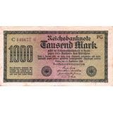 Billete De Alemania - 1.000 Marcos - 1922 - En Mendoza