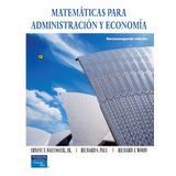 Matemáticas Para Administración Y Economía Haeussler 12 Ed.