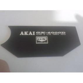 Placa Frontal Tampa Dos Cabeçotes Akai Gx4000d - Preta
