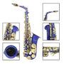 Lade Latón Grabado Eb Mi Bemol Saxofón Alto Sax Con