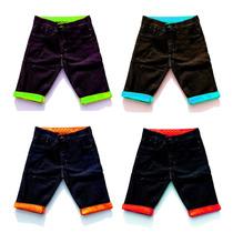 Kit 15 Bermudas Jeans Masculina Short Jeans Colorido Atacado