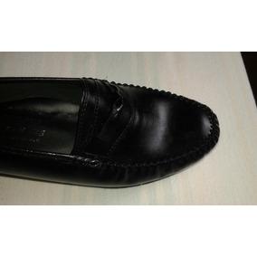 Zapatos Negros Mocasín Dama En Piel