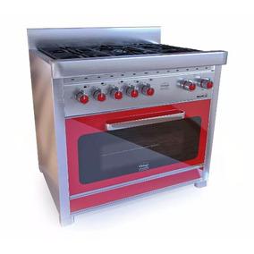 Cocina Morelli Vintage 900 Roja Grill Eléctrico Lhconfort