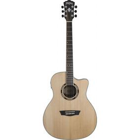 Guitarra Electroacustica Washburn Ag20ce Natural Eq. Envios