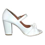 Sapato Feminino Branco Calçados Salto Noiva Salto Grosso Sh
