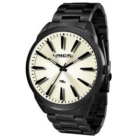 53ca74aae0243 Relógio Analógico Masculino Preto - Relógio Lince Masculino no ...