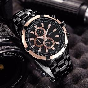 Reloj Elegante Metálico Caballero Moda Lujo Original Elegant