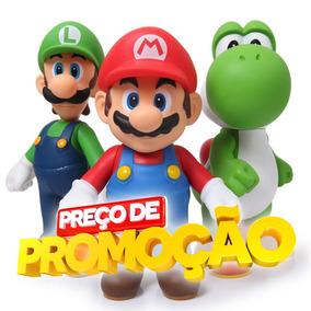 Boneco Mario Articulado Bros Luigi Yoshi Grande Original