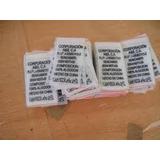 Etiquetas Ropa Sencamer Pelon