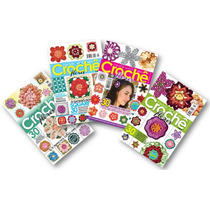 Lote De 4 Revistas - Crochê Flores 120 Modelos - Artesanato