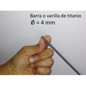 Barra De Titanio Gr 5, Diam 4mm X 1 Metro Astm B348
