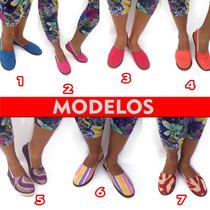 Zapatos Tipos Abuelita, Alpargatas En Diferentes Colores