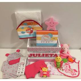 Ajuar Bebe Nacimiento Babyshower Personalizado -13 Productos