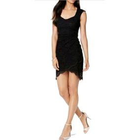 Vestido De Fiesta Corto De Encaje Negro Envío Grtis Serenity