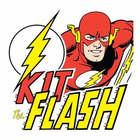 Kit Com Hq The Flash + Pôster + Copo + Placa Decorativa