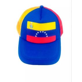 Gorra Tricolor Bandera Venezuela De Malla 8 Estrellas