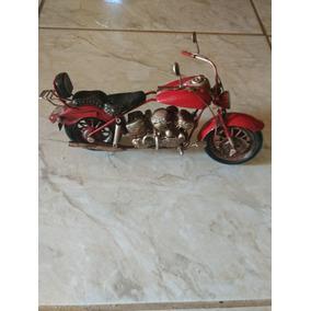 Miniatura Moto Harley De Lata Decoração