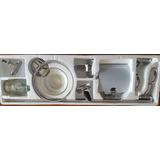 Accesorios De Baño En Metal Cromado 6 Piezas Modelo 1500