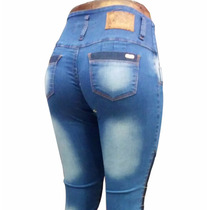 Promo 3 Pantalones Jeans Elastizado Chupin Dama Cintura Alta