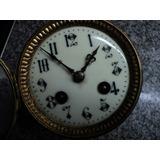 Antigua Maquinaria Reloj Pendulo De Mesa Soneria
