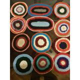 Posa Pava Tejido A Mano Al Crochet, Centro De Mesa, Carpeta