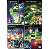 Ben 10 Saga Completa Ps2 Sony Playstation 2 (4 Discos)