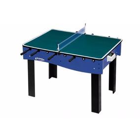 Mesa 3x1 Pebolim Totó/ping Pong/futebol De Botão Klopf 1058