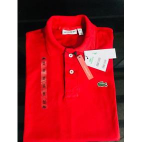 26e919e37c6b1 Camisa Lacoste Lançamento Promoçao - Camisas Masculinas Laranja no ...