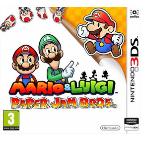 3ds Mario Y Luigi Paper Jam Bros Videojuego Nintendo Sellado