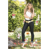 Jeans Para Mujer Color Negro By Asisea Moda