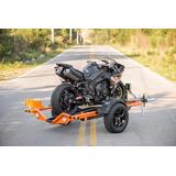 Reboque Para Transporte De 1 Moto Com Sistema Basculante,elé