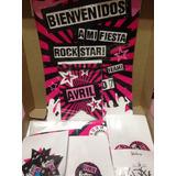 Party Box Candy Bar Kits Impresos Cumples Fiesta Rock Star
