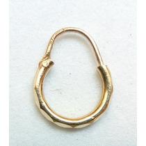 Arracadas En Oro Macizo De 10k Hermosas, Diamantadas Minis
