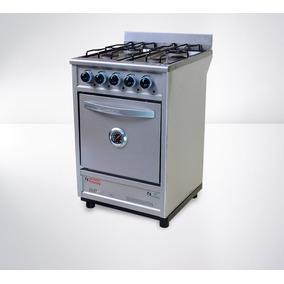 Cocina Industrial Fornax 4 Hornallas 55 Cm Acero Inoxidable