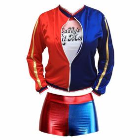 Disfraz Niña Halloween Arlequina Harly Queen Harley Quinn