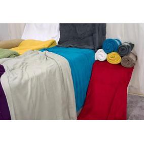 Cobertores Manta Solteiro Lisa Microfibra