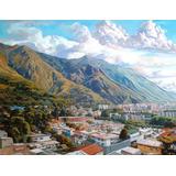 Pintura Al Oleo Del Cerro Ávila, Caracas De Franklin Roa.