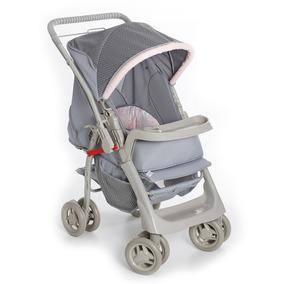 Carrinho Bebê Pegasus Galzerano Cinza/rosa