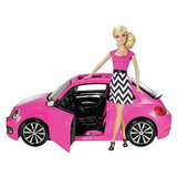 Barbie Volkswagen Beetle Muñeca Carro Niña