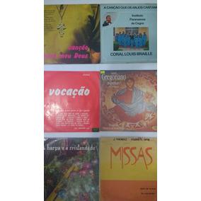Lote 10 Lps Música Católica Pe Zezinho E Outros Frete Grátis