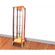 Vitrina Cristalero Copero Con Espejo 3 Estantes Vidrio #6